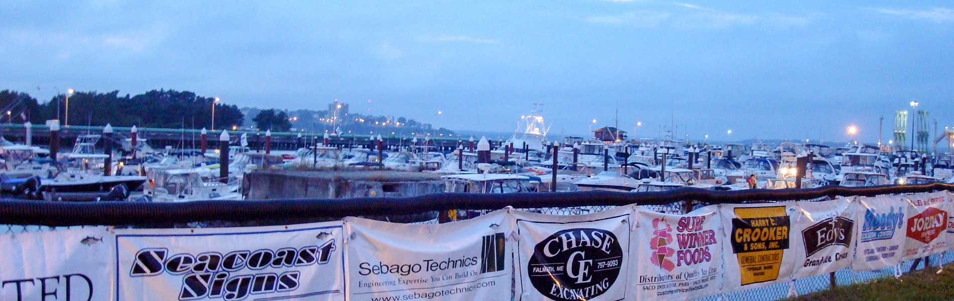 Sponsor Banners at Spring Point Marina